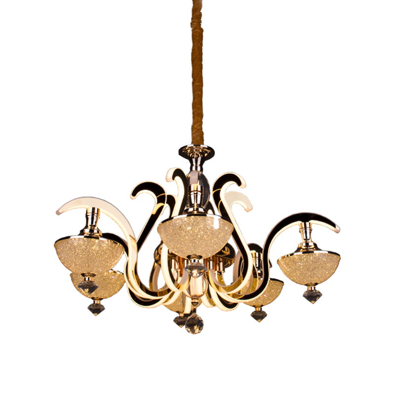 LED CHANDELIER  MD9803-6 190W GOLD