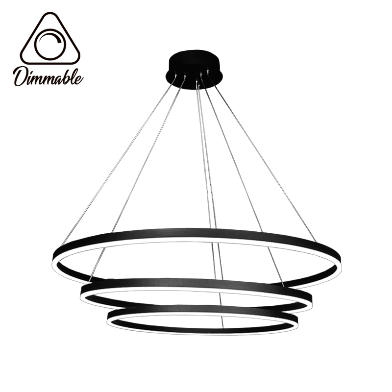 LED CHANDELIER 1010 3-WHITE DIMM 3 GRAY