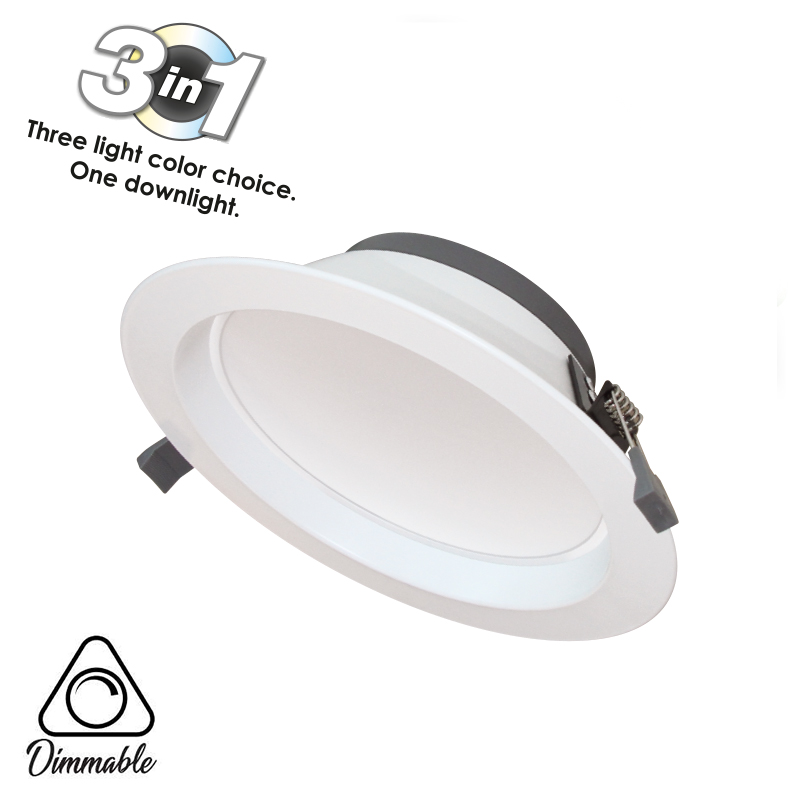LED DOWNLIGHT CYCLONE 3-WHITE DIMM