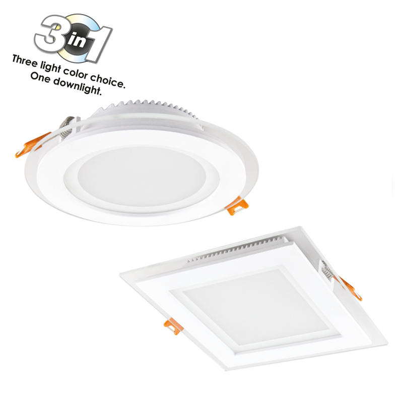 LED DOWNLIGHTS CAPRI GLASS R AND S 3WHITE