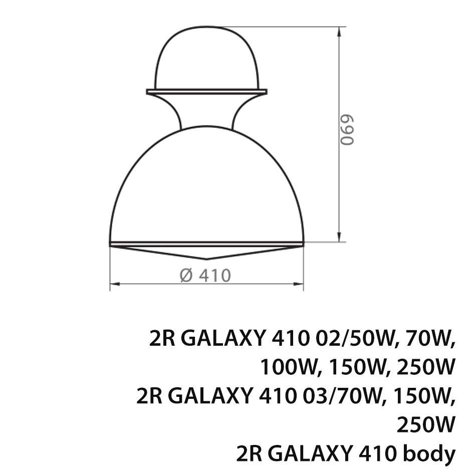 HIGH BAY LIGHT GALAXY 410 DRAWING
