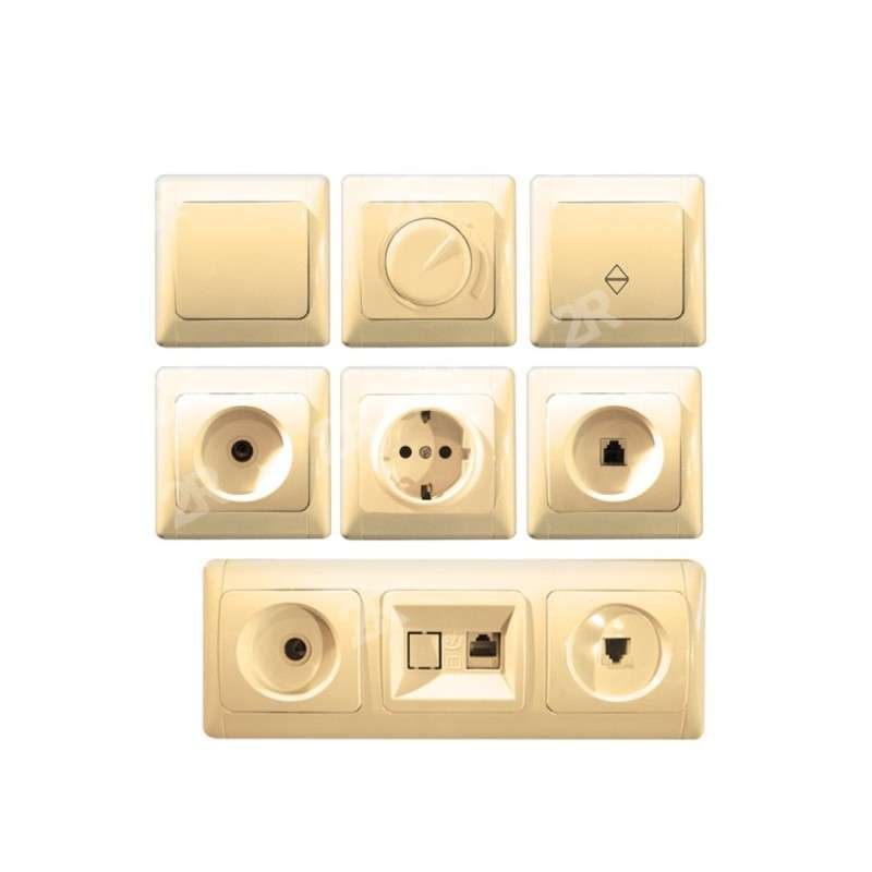 SWITCHES & SOCKETS ALASKA CREAM