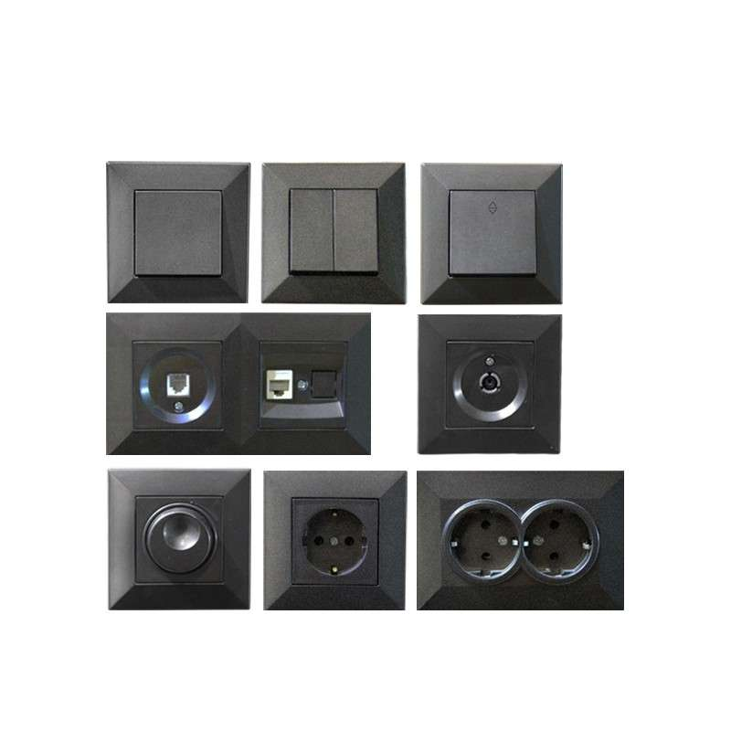 SWITCHES & SOCKETS KEIRA GRAPHITE