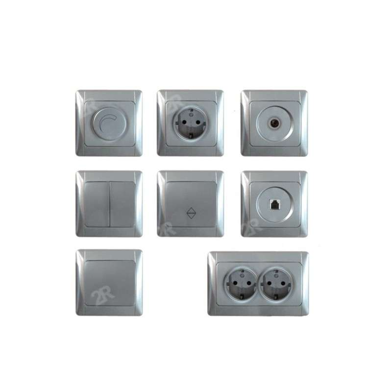 SWITCHES & SOCKETS ALASKA SILVER