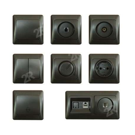 SWITCHES & SOCKETS ALASKA GRAPHITE